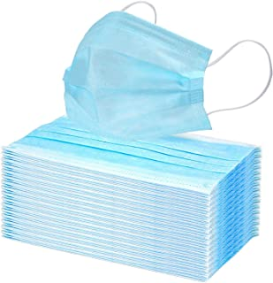 PLAZALA Disposable medical Face Cover, Face Shields 3-PLY...