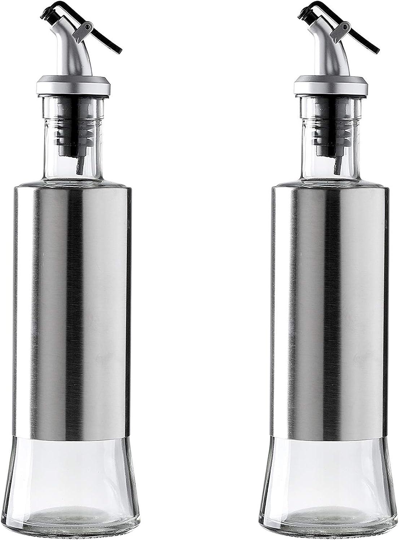 2 Pack Oil and Vinegar Finally resale start Ranking TOP17 Glass Olive oz Cruets-10