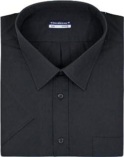 Tom Hagan Mens Formal Shirts Sizes 15.5 to 18 and 3XL 4XL 5XL 6XL Short Sleeve Stylish Plain White or Coloured