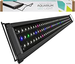 Koval Aquarium Lighting Fish Tank Light Hood with Extendable Brackets, White and Blue LEDs