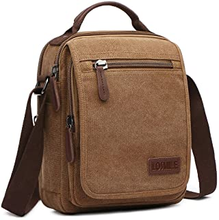 LOSMILE Bolsos Bandolera Hombre Pequeñas Bolsos de mano Bolsa de Hombro Messenger Bag Bolsa de Lona para iPad mini Escolar...