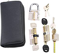 Lock Pick Set Praktijk Pick Set voor Slotenmaker Beginner Remove Pick Tool met verschillende transparante sloten Combinati...