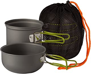 featured product Wealers Compact Foldeble Outdoor Camping Hiking Cookware Backpacking Cooking Picnic Bowl Pot Pan Set with Mesh Bag (Green,  2 piece Set)