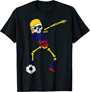 Colombia Pirate Patriotic Colombia Soccer Jersey Shirt