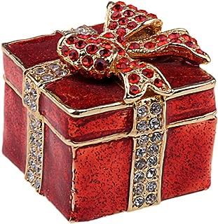 Jiaheyou Square Present Treasured Wedding Favors Gifts Jeweled Trinket Mini Jewelry Box