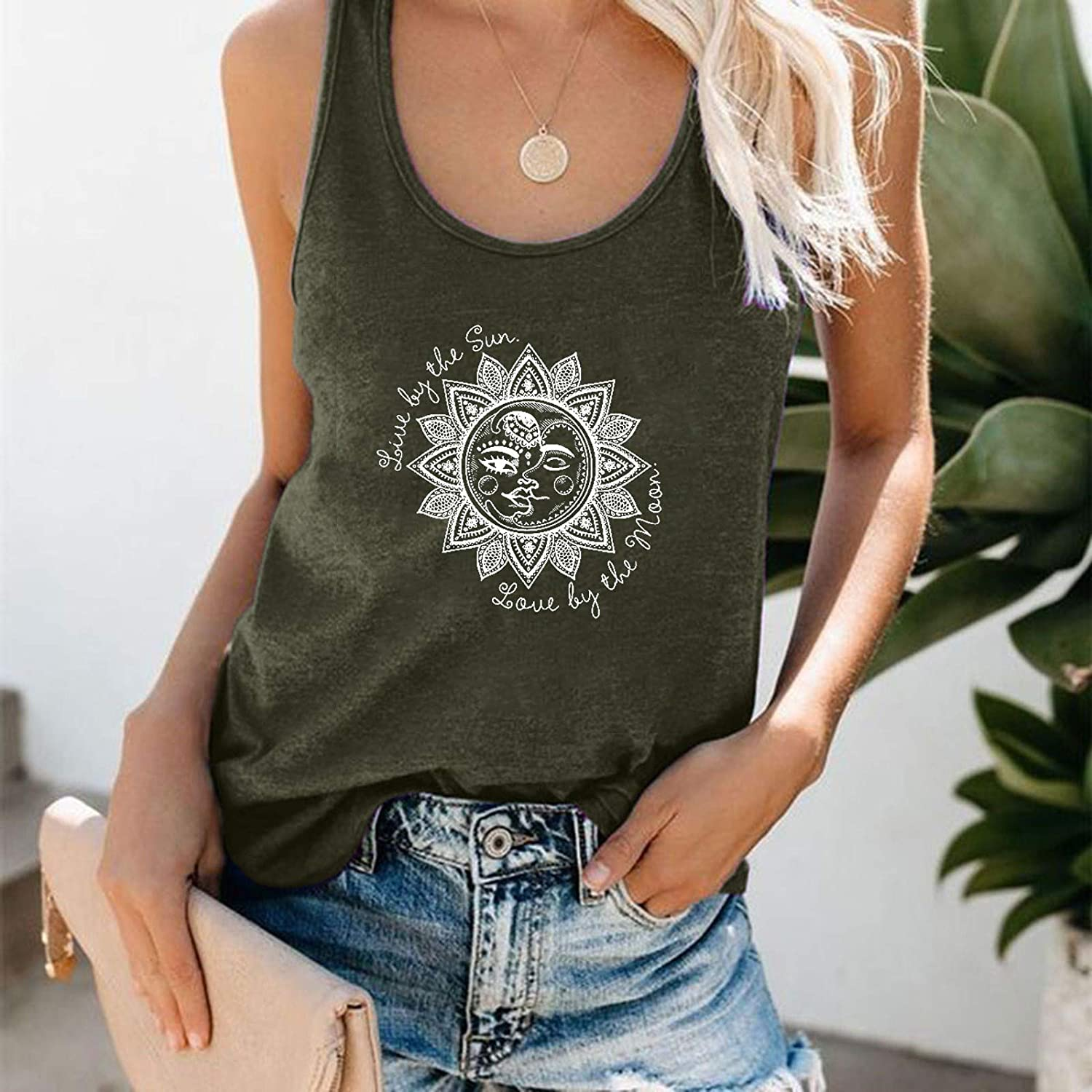 Gerichy Tank Tops for Women, Womens Plus Size Casual Summer Sleeveless Loose Fit Blouses Tees Tank Shirts Tunics Vest