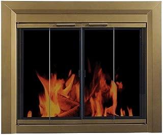Pleasant Hearth Fireplace Screen - Carrington - Large Antique Brass