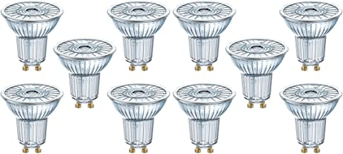 Osram LED Reflector Lamp/Warm White (2700 K)/GU10 Base/Replaces 50 W Reflector Lamps/4.30 W/LED Star PAR16, Pack of 10