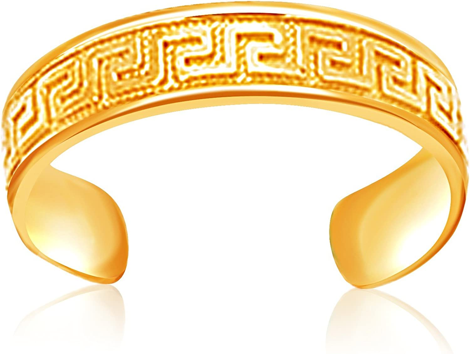 Jewels By Lux 14K Yellow Gold Labyrinth Motif Toe Ring