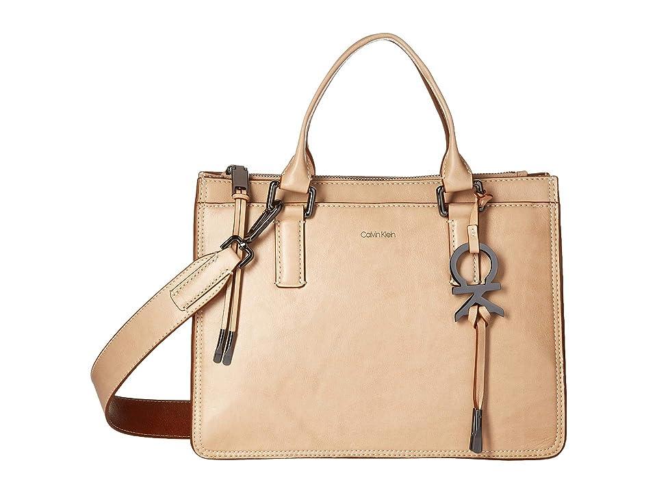 8f920ad767 Calvin Klein Brynn Athene Wash Leather Satchel (Barley) Handbags