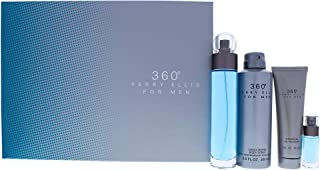 Perry Ellis 360 By Perry Ellis for Men - 4 Pc Gift Set 3.4oz Edt Spray, 6.8oz Deodorizing Body Spray, 3.0oz Shower Gel, 0....