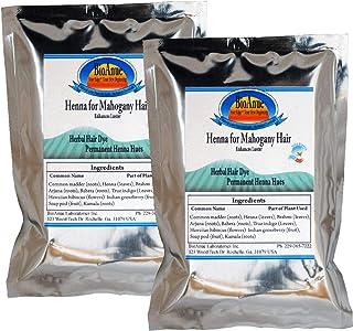 Certified Organic Henna Hair Dye for Mahogany -Brown Hair. 2 Bags. Beautiful Hair Naturally.
