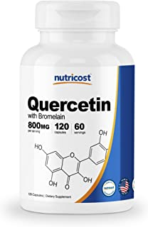 Nutricost Quercetin 800mg, 120 Capsules with Bromelain - 60 Servings, Veggie Capsules, Non-GMO & Gluten Free