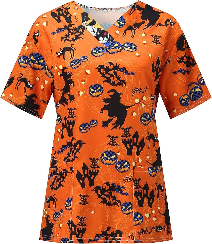 Dkmindest Women's Tunic Nurse_Scrub_Tops Workwear Max 52% OFF Print Holiday Purchase