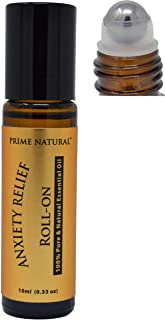 Anxiety Relief Essential Oil Roll On 10ml, Pre-Diluted, Ready to Use Roller for Stress Relief, Relaxation, Boost Mood, Uplifting, Calming