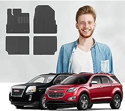 Road Comforts Custom Fit Chevrolet Equinox 2010-2017, GMC Terrain/Terrain Denali 2010-2017 Front and Second Rows (4pcs) (Black)