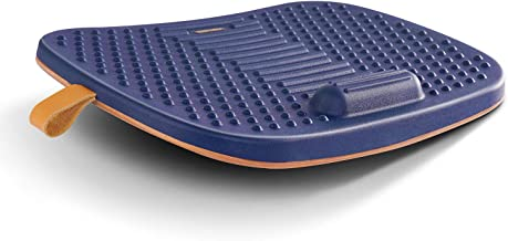 FEZIBO Standing Desk Mat with Anti Fatigue Bar, Wooden Wobble Balance Board with Ergonomic Design Comfort Floor Mat (Mediu...