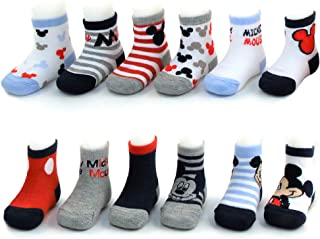 Disney Baby Boys Mickey Mouse Charachter Designs Calcetines 12 Pack (recién nacido e bebés)