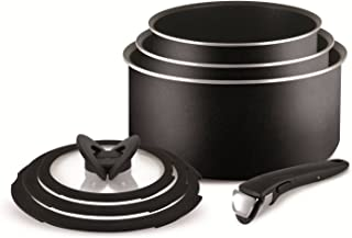 Tefal Ingenio Essential - Set de 7 ollas (con Tapas), Color Negro