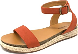City Classified Topshop Avenue Tacoma Casual Espadrille Wedge Heel with Ankle Buckle Straps