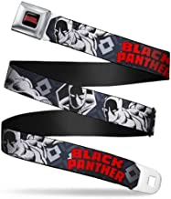 Buckle-Down Men's Seatbelt Belt Black Panther 1.5