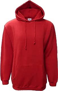 Adult Men's Solid Premium Cotton Vintage Fleece Hooded Pullover Sweatshirts Hoodie