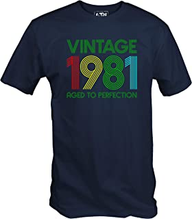 6TN Vintage 1981 Aged to Perfection 40th Birthday T Shirt