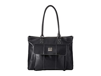 Kenneth Cole Reaction Faux Leather 16 Computer Business Tote (Black) Handbags