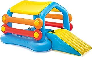 Intex- Play center infable, para alberca ,  diseño de isla con resbaladero a los lados, 279,4 x 172,7 x 121,9 cm