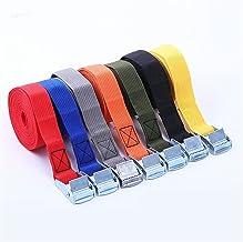 Duurzaam 2 m gesp tie-down riem ladingsbanden voor auto motorfiets fiets met metalen gesp sleep touw sterke ratel riem voo...