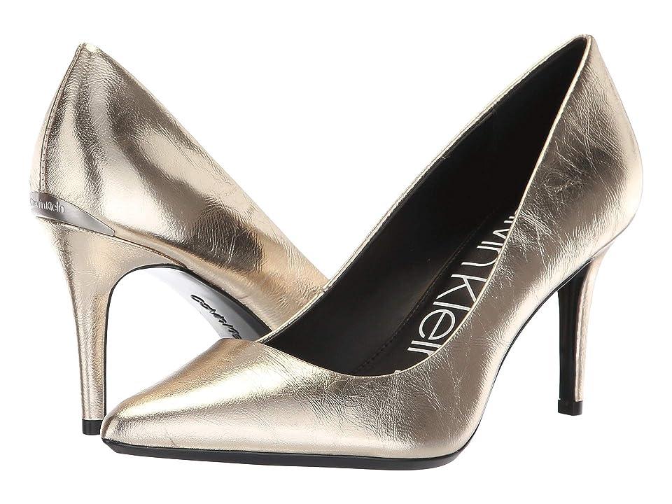 Calvin Klein Gayle Pump (Soft Gold Paper Metallic) High Heels
