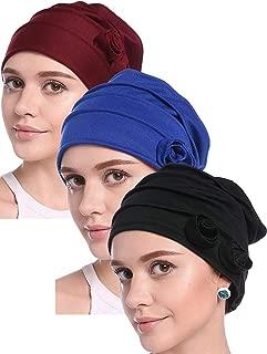 ODN Femme Fichus Turban /Écharpe Musulmane Hijab Islamique Ch/âle Chapeau Bonnet Hijab Foulard de T/ête Musulmane en Mousseline de Soie Couvre-Chef Couverture Musulmane