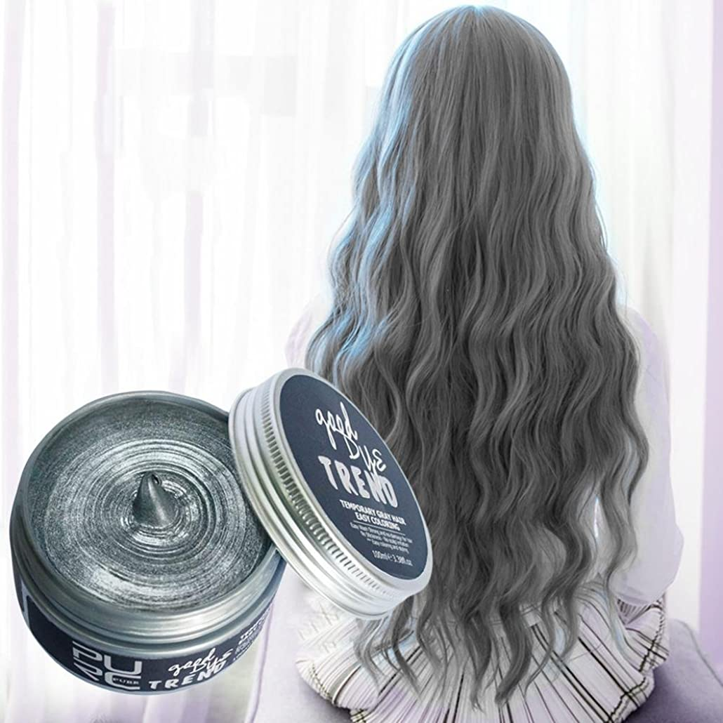 高いハーフすぐにSILUN ファッションウォッシャブル7色ヘアカラーポマードワックスマッド染料スタイリングクリーム使い捨てdiyヘアカラーワックス 染毛剤