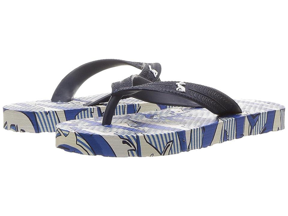 Joules Kids Printed Flip-Flop (Toddler/Little Kid/Big Kid) (Shark Dive Stripe) Boys Shoes