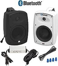 "OSD Audio 5.25"" Bluetooth Outdoor Patio Speaker – Wireless Pair, Black - BTP525"