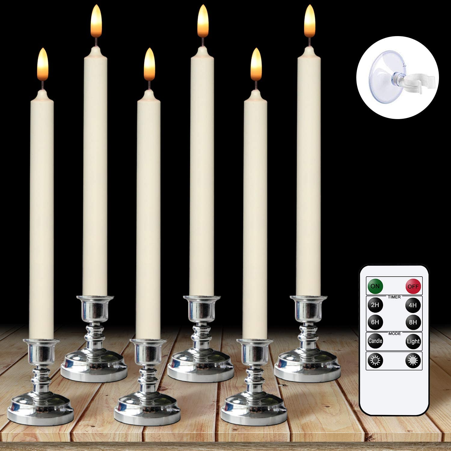 Flameless Window Taper Nippon regular agency Candles with Op Battery Under blast sales Timer and Remote
