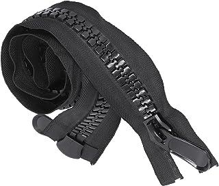 Zíper de plástico, Zíper de plástico grande de alta qualidade com revestimento preto para costura para acessórios de costu...