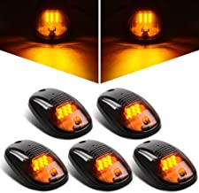 LED Cab Roof Running Marker Lights with Gasket for 2003-2018 Dodge Ram 1500 2500 3500 4500 5500 Pickup Truck Smoked 5Pcs
