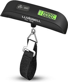 comprar comparacion Luxebell Básculas para Equipaje Báscula Digital 50kg Balanza de Retroiluminación de LCD de Sensor de Temperatura con la Ba...