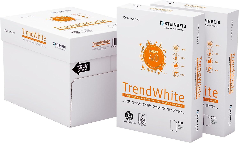 Steinbeis TrendWeiß DIN A3 - 5 x 500 Blatt - weiß - Multifunktionspapier - 80 g   m² B01N4C2W35   Adoptieren