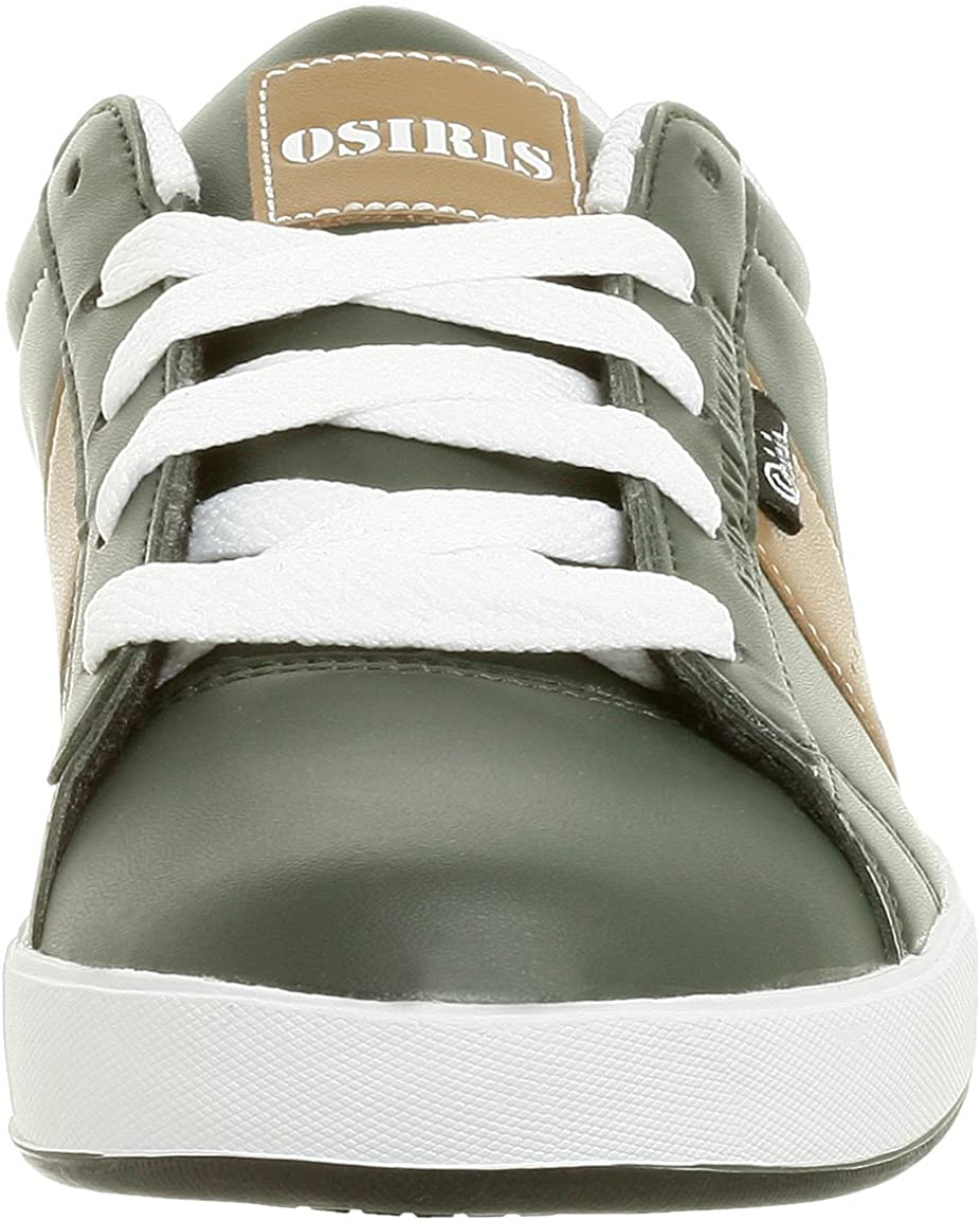Osiris Little Kid/Big Kid Serve Bomber Sneaker,Dark Green/Tan,12 M US Little Kid