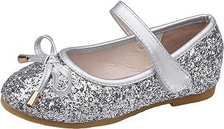 WUIWUIYU - Zapatos de bailarina con lentejuelas brillantes transpirables, cómodos