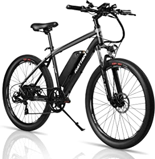 Rattan Challenger 2.0 26 Inch Mountain Electric Bicycle 36V/10.4AH Removable Lithium-ion Battery 350W Electric Bike for Adults Intelligent I-PAS Power Recharge System E-Bike 7 Speed Shifter
