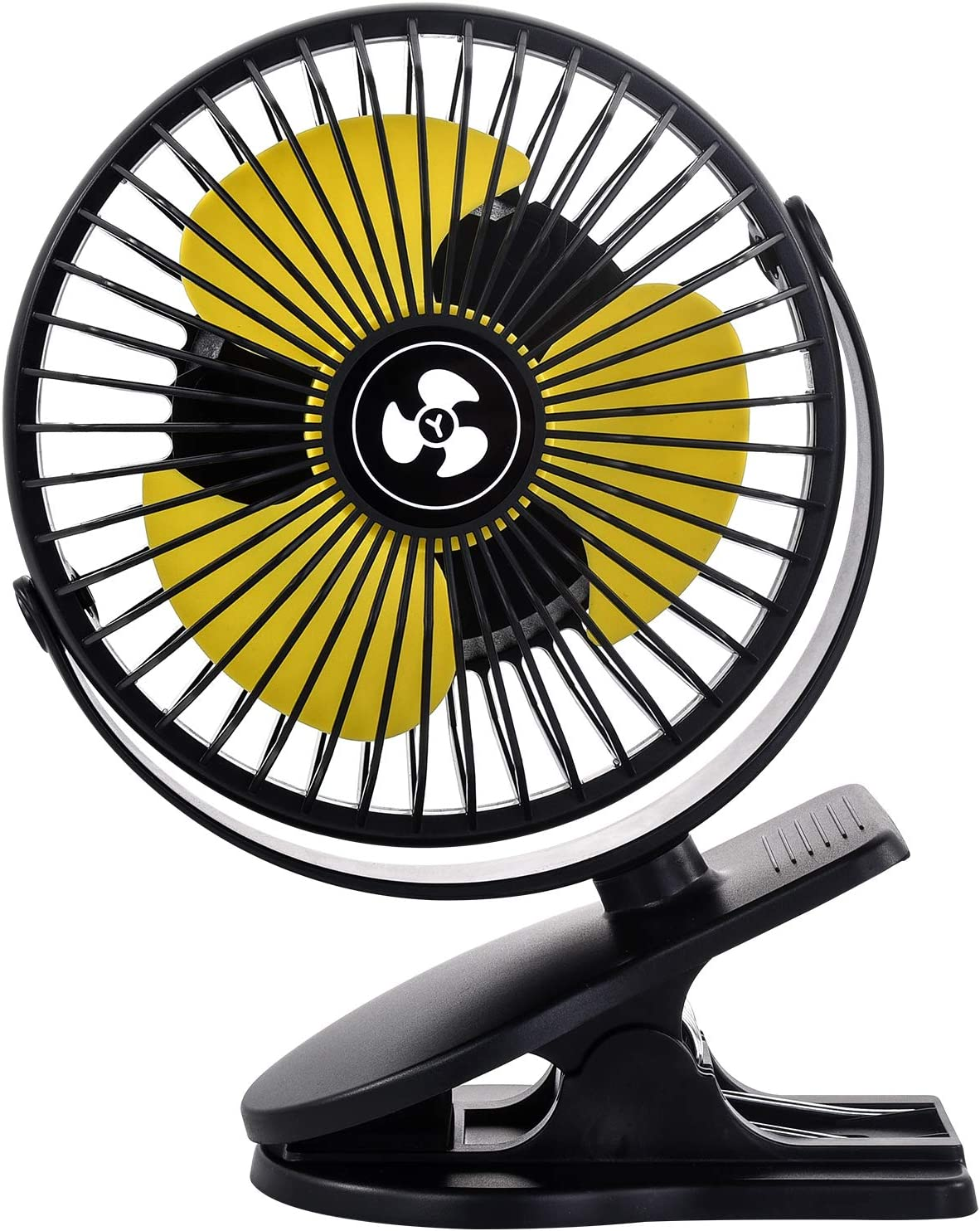 Quiet 10000mAH Rechargeable Battery Powered Clip on Fan, 3 Speed 360 Degree Rotation, Personal Portable USB Desk Fan for Baby Stroller/Car Seat/Office/Camping Tent