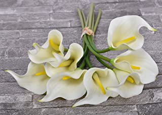 YATAI 8 Pcs Artificial Flowers Real Touch Calla Lily Artificial Plants Fake Flowers Floral Bouquet for Home Parties Weddin...