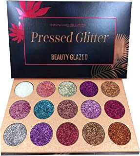 ROPALIA 15 Colors Eyeshadow Palette Glitter Pigment Textured