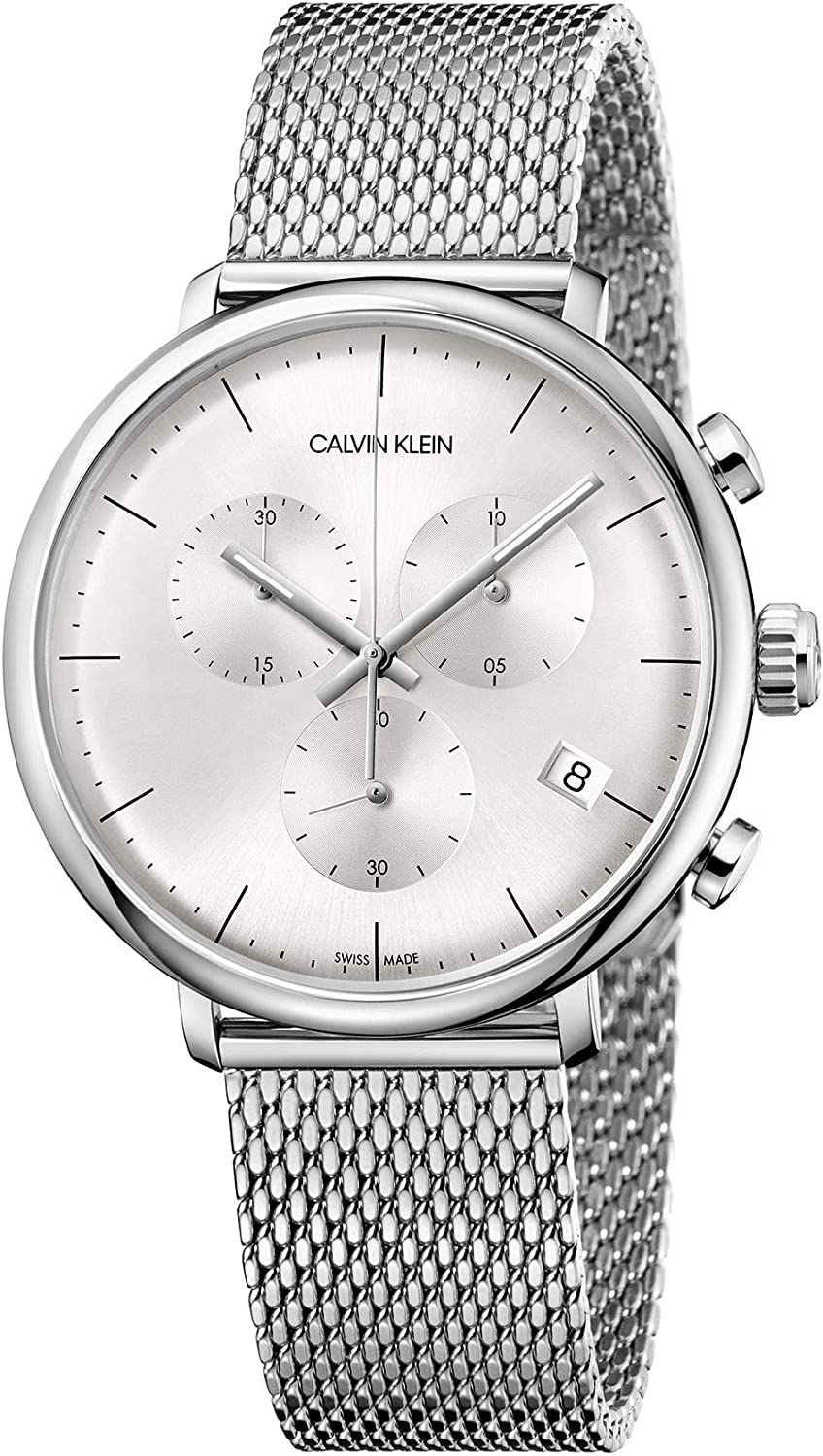 Calvin Klein Unisex Adult Chronograph security Watch with Quartz Stainles 70% OFF Outlet