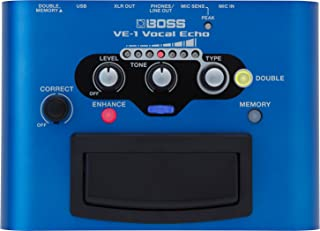 BOSS Vocal Echo Effects Processor Stompbox Guitar Pedal (VE-1)