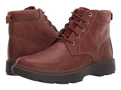 Clarks Dempsey Top (Mahogany Leather) Men