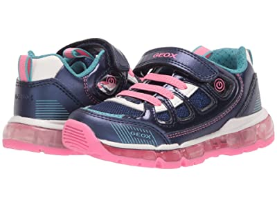 Geox Kids Android 27 (Toddler/Little Kid) (Medium Blue) Girl
